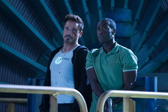 """Marvel's Iron Man 3"" L to R: Tony Stark/Iron Man (Robert Downey Jr.) & James Rhodes (Don Cheadle) Ph: Zade Rosenthal © 2012 MVLFFLLC.  TM & © 2012 Marvel.  All Rights Reserved."